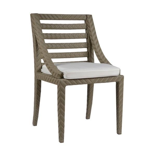 Zahradní židle s podsedákem Franzo Ecru