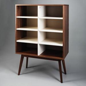 Knihovna z ořechového dřeva Simla Nut