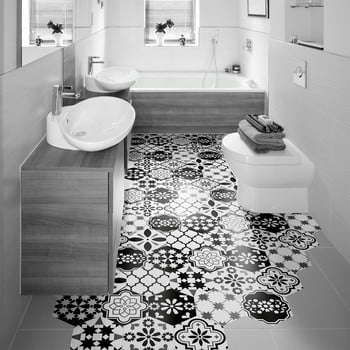 Set 10 autocolante impermeabile pentru podea Ambiance Luis, 20 x 18 cm de la Ambiance