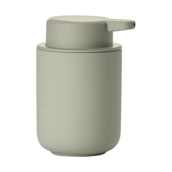 Dispensor din ceramică pentru săpun Zone Eucalyptus, 250 ml, gri verde imagine