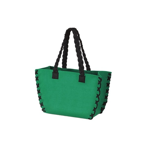 Menší plstěná taška, zelená