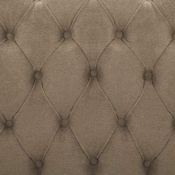 Hnědá postel s černými nohami Vivonita Allon,180x200cm