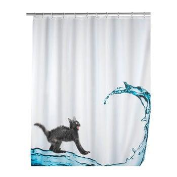 Perdea duș Wenko Black Cat, 180 x 200 cm imagine