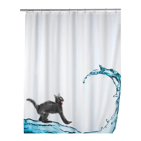 Sprchový závěs Wenko Black Cat, 180 x 200 cm
