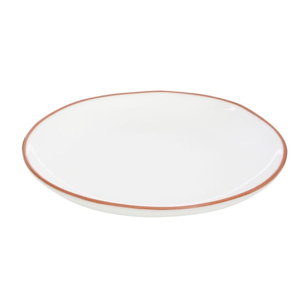 Bílý talíř z glazované terakoty Premier Housewares, ⌀ 27,5 cm