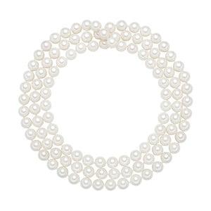 Lănțișor cu perle albe  ⌀ 10 mm Perldesse Muschel, lungime 120 cm