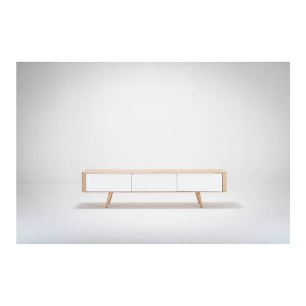 Televizní stolek z dubového dřeva Gazzda Ena, 180x55x45cm