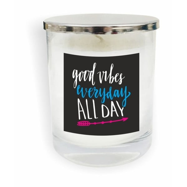 Motto Glass Candle V15 fehér gyertya - North Carolina Scandinavian Home Decors