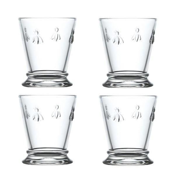 Sada 4 skleněných sklenic La Rochére Abeille Mismo