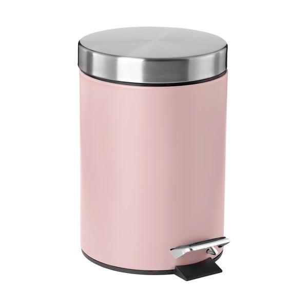 Růžový pedálový odpadkový koš Zone Confetti,3l