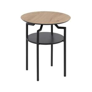 Černo-hnědý odkládací stolek Actona Goldington, ⌀ 45 cm