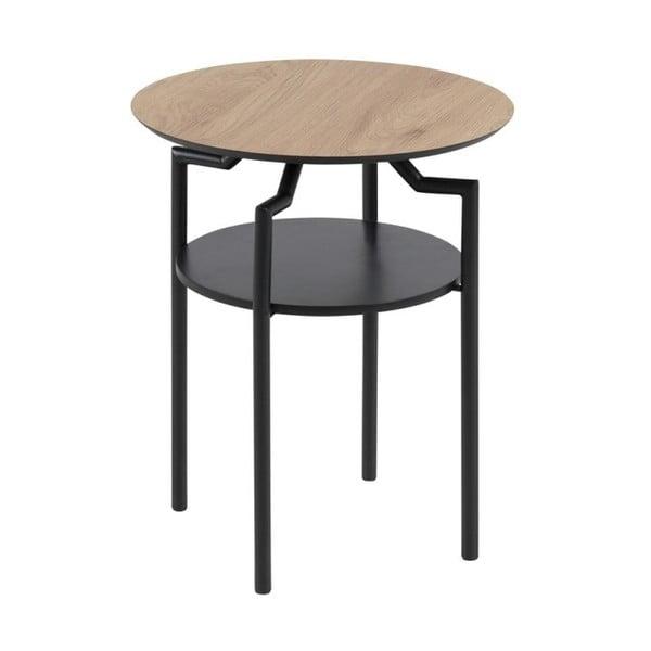 Goldington fekete-barna tárolóasztal, ⌀ 45 cm - Actona