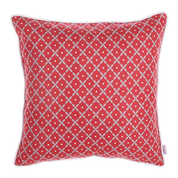 Červený povlak na polštář Apolena Rustic Pattern, 43x43cm
