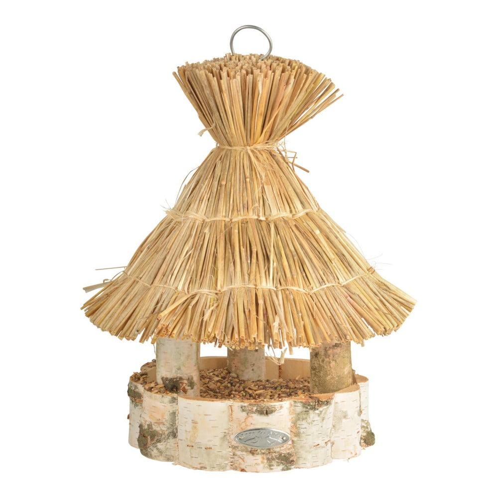 Dřevěné závěsné krmítko pro ptáky Esschert Design, ⌀ 30,5 x 37 cm