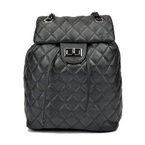 Černý dámský kožený batoh Anna Luchini Magnarro