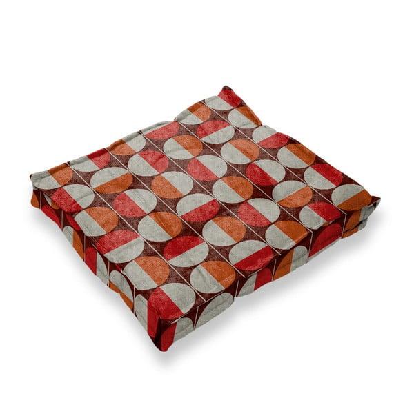 Podsedák s příměsí lnu Linen Couture Square Circles, 37 x 37 cm