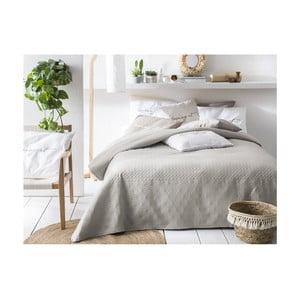 Béžovo-šedý přehoz přes postel Slowdeco Buenos, 170 x 210 cm