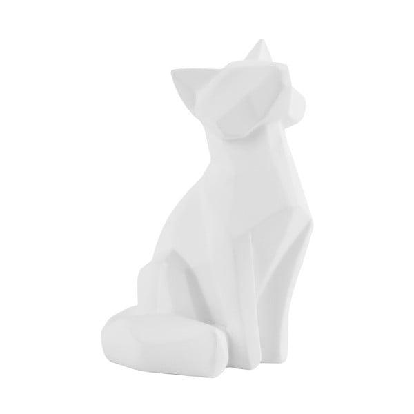 Matne biela soška PT LIVING Origami Fox, výška 15 cm