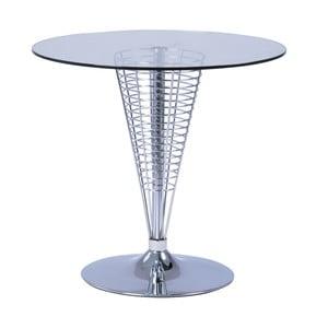 Odkládací stolek se skleněnou deskou Signal Cosmo, ⌀80cm