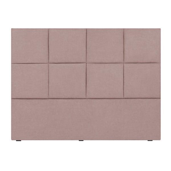 Světle růžové čelo postele Mazzini Sofas Barletta, 200 x 120 cm