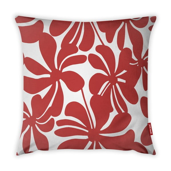 Jungle Paradiso piros-fehér párnahuzat, 43 x 43 cm - Vitaus