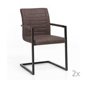 Sada 2 hnědých židlí Woodking Picasso
