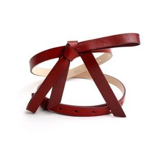 Nastavitelný kožený pásek Ruby červený, 63 až 96 cm