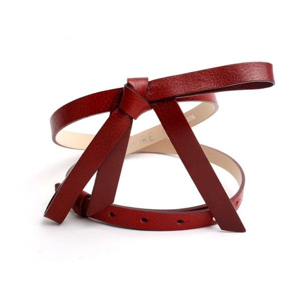 Nastavitelný kožený pásek Ruby červený, 60 až 92 cm