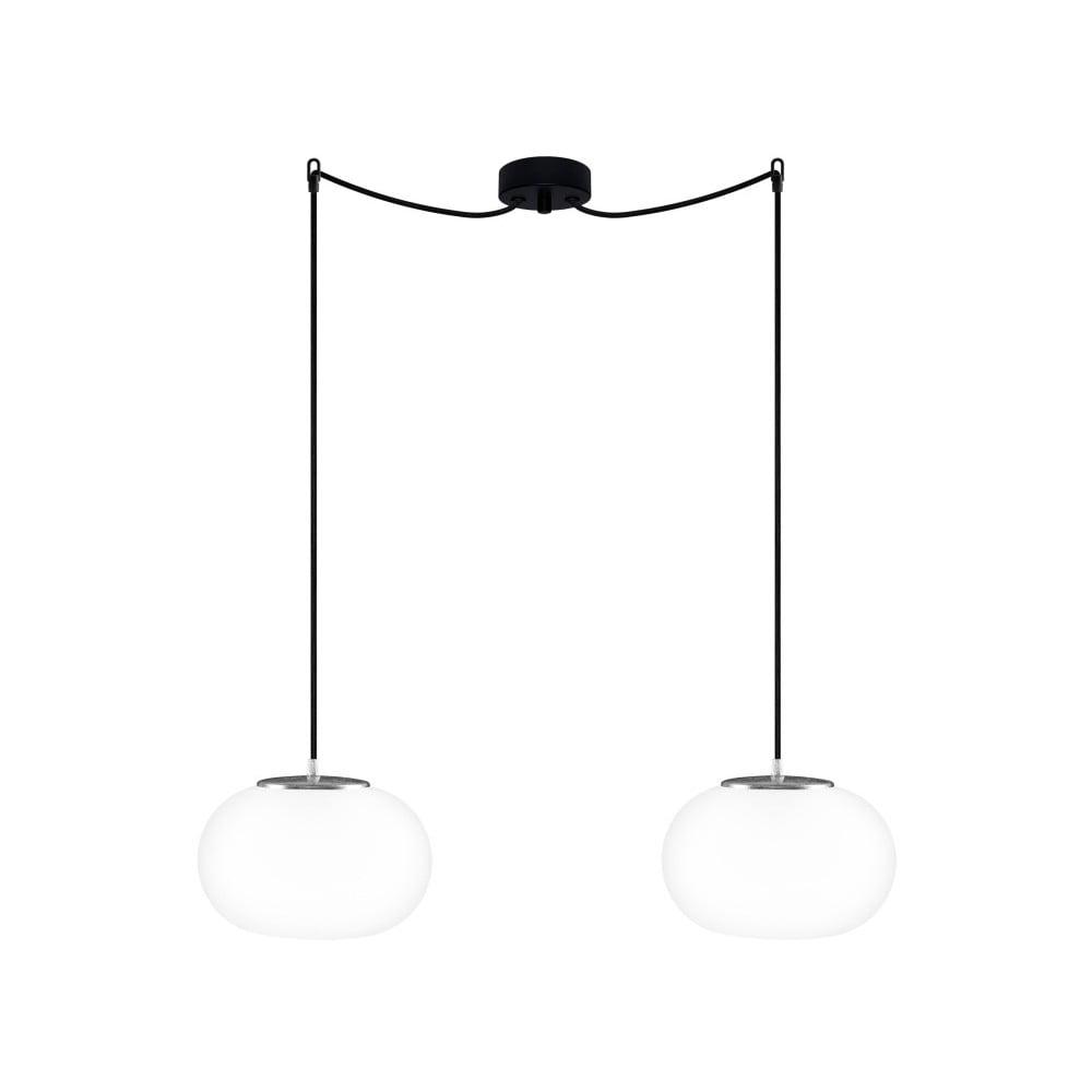 Černé dvojité závěsné svítidlo Sotto Luce DOSEI Elementary 2S