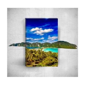 Nástěnný 3D obraz Mosticx Tropical Island, 40 x 60 cm