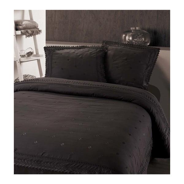 Tmavosivé obliečky z mikroperkálu na dvojlôžko Sleeptime Rio, 240×220 cm