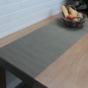 Běhoun na stůl Bamboo 40x140 cm, šedý