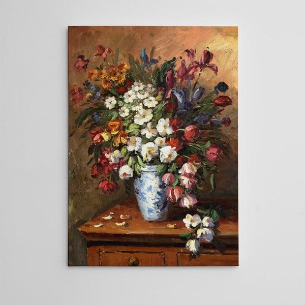 Obraz na plátně Květiny ve světnici, 50x70 cm