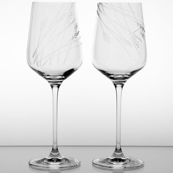 Ateliér Žampach, set 2 ks skleniček na bílé víno Bojínek