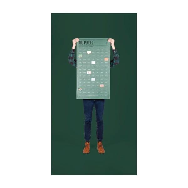 Plakát DOIY 100 míst, která musíte navštívit