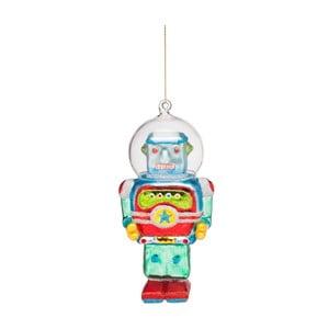 Vánoční závěsná ozdoba ze skla Butlers Robot