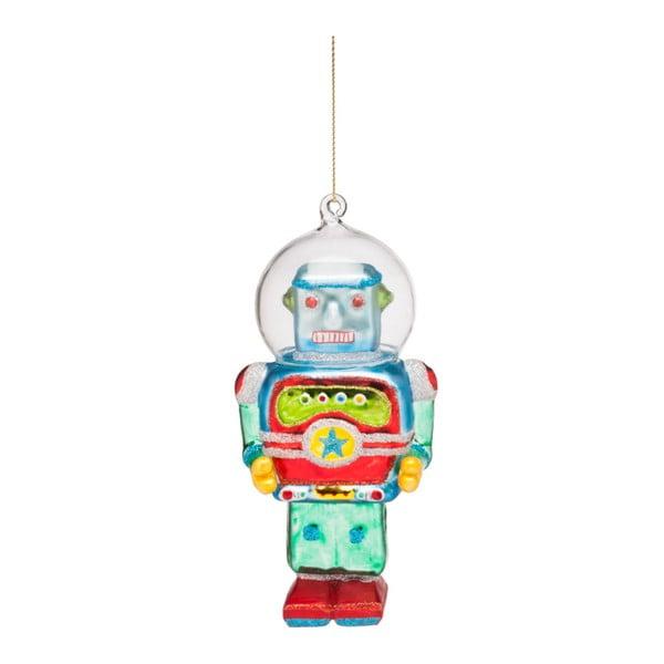 Decorațiune de Crăciun din sticlă Butlers Robot