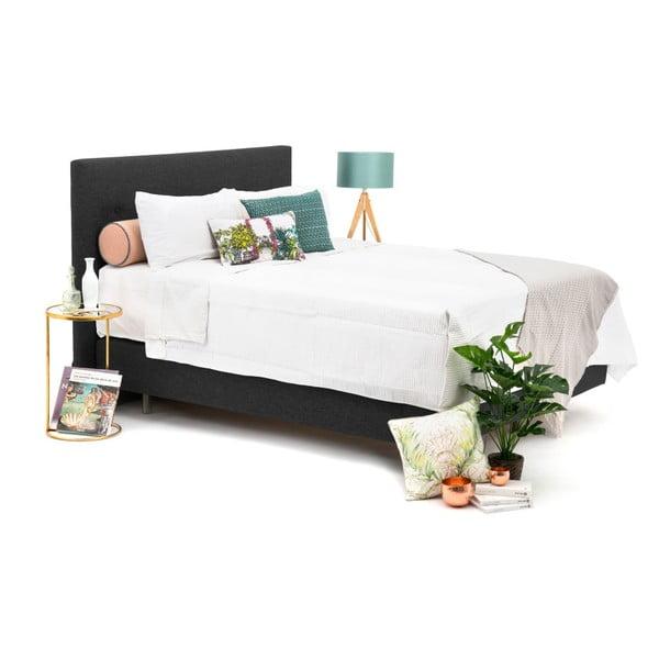 Antracitově šedá boxspring postel Vivonita Lando, 180x200cm