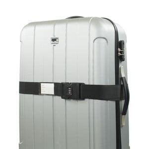 Černý bezpečnostní pás na kufr Bluestar