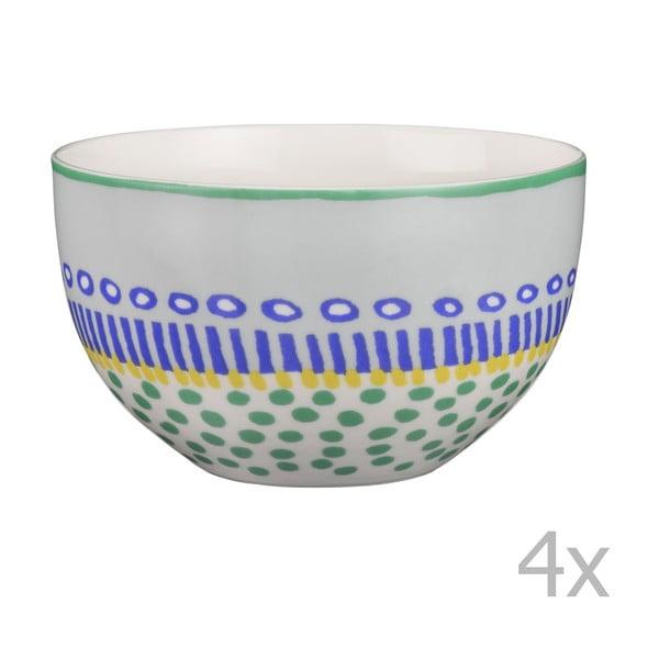Sada 4 porcelánových misek Oilily 12 cm, zelená