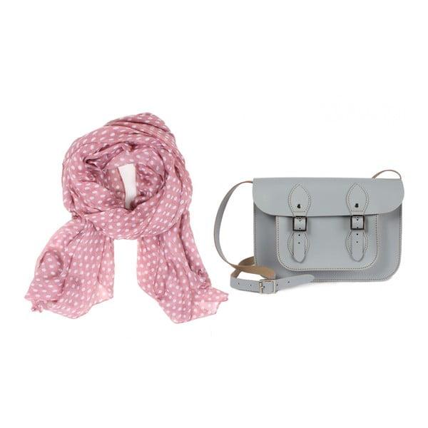 Šátek Polka Dot Vintage Pink