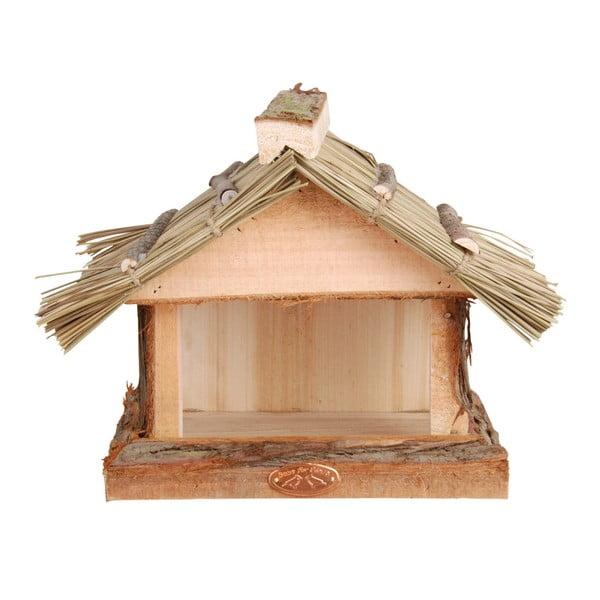 Karmnik drewniany z daszkiem Esschert Design, wys. 22,8 cm