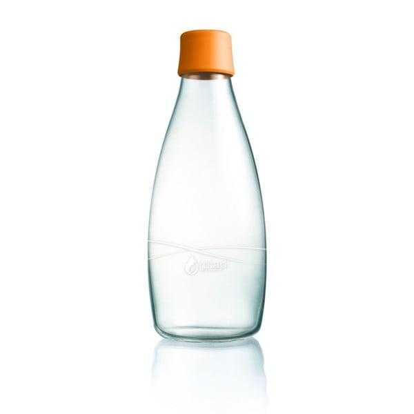 Pomarańczowa butelka ze szkła ReTap, 800 ml