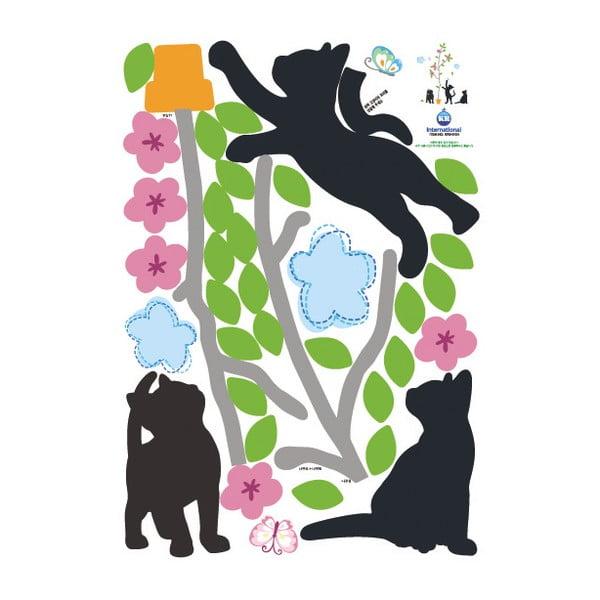 Samolepka Fanastick Black Cats and Tree