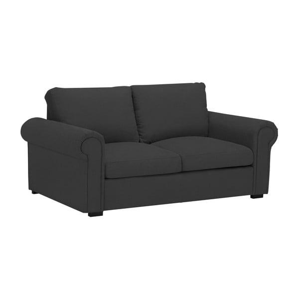 Tmavě šedá dvoumístná pohovka Windsor & Co Sofas Hermes