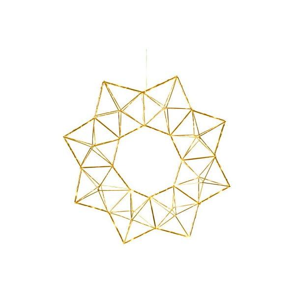 Závesná svietiaca LED dekorácia Best Season Polygon Brass