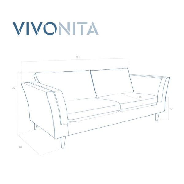 Světle šedá dvoumístná pohovka Vivonita Connor