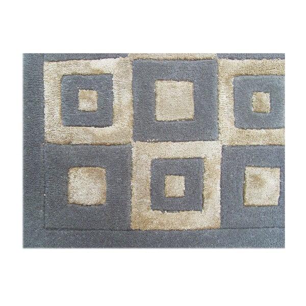 Vlněný koberec Box Grey, 153x244 cm