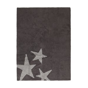 Tmavě šedý bavlněný ručně vyráběný koberec Lorena Canals Three Stars, 120x160cm