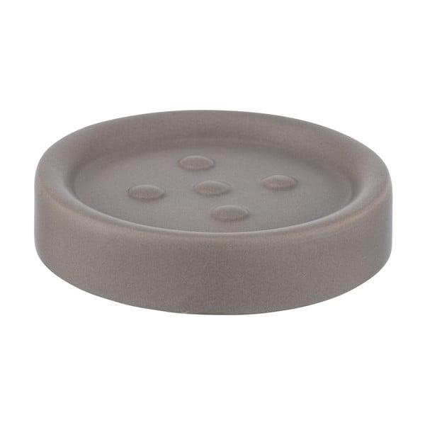 Săpunieră ceramică Wenko Polaris, gri - bej mat